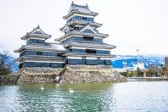 Το αρχαίο κάστρο κάστρο της Ιαπωνίας, Ματσουμότο Στοκ Εικόνες