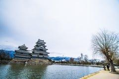 Το αρχαίο κάστρο κάστρο της Ιαπωνίας, Ματσουμότο Στοκ εικόνα με δικαίωμα ελεύθερης χρήσης