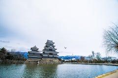 Το αρχαίο κάστρο κάστρο της Ιαπωνίας, Ματσουμότο Στοκ Εικόνα