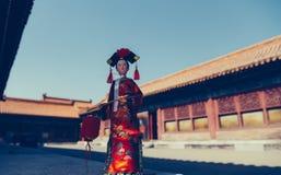 Το αρχαίο κινεζικό κορίτσι παλατιών Στοκ φωτογραφίες με δικαίωμα ελεύθερης χρήσης