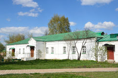Το αρχαίο κτήριο νοσοκομείων σε Aleksandrovskaya Sloboda, Alexandrov, χρυσό δαχτυλίδι της Ρωσίας Στοκ Φωτογραφίες