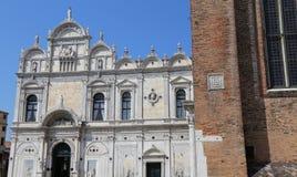 Το αρχαίο κτήριο στη Βενετία τώρα αυτό χρησιμοποιείται ως νοσοκομείο Στοκ φωτογραφία με δικαίωμα ελεύθερης χρήσης