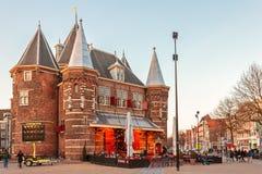 Το αρχαίο φρούριο το «Waag» στο Άμστερνταμ, οι Κάτω Χώρες Στοκ φωτογραφίες με δικαίωμα ελεύθερης χρήσης