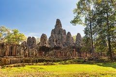 το αρχαίο angkor bayon Καμπότζη khmer συγκεντρώνει siem το ναό Στοκ εικόνες με δικαίωμα ελεύθερης χρήσης