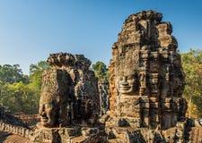 το αρχαίο angkor bayon Καμπότζη khmer συγκεντρώνει siem το ναό Στοκ εικόνα με δικαίωμα ελεύθερης χρήσης