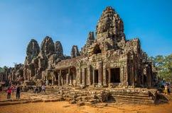 το αρχαίο angkor bayon Καμπότζη khmer συγκεντρώνει siem το ναό Στοκ Φωτογραφία
