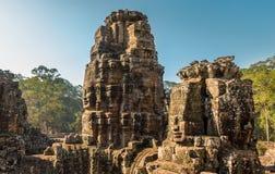 το αρχαίο angkor bayon Καμπότζη khmer συγκεντρώνει siem το ναό Στοκ φωτογραφία με δικαίωμα ελεύθερης χρήσης