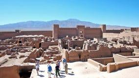 Το αρχαίο arg-ε Rayen σε Rayen, Ιράν απόθεμα βίντεο