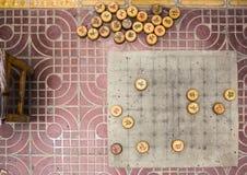Το αρχαίο Boardgame των κινεζικών ελεγκτών στοκ εικόνα με δικαίωμα ελεύθερης χρήσης