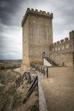 Το αρχαίο Castle Peñaranda de Duero, Burgos Στοκ Εικόνες