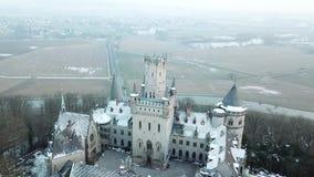 Το αρχαίο Marienburg Castle κοντά στο Αννόβερο, Γερμανία απόθεμα βίντεο