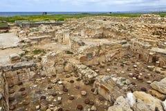 Το αρχαιολογικό Helenistic και η ρωμαϊκή περιοχή στη Kato Πάφος στη Κύπρο. Στοκ Φωτογραφίες