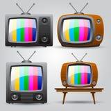 το αρχείο 10 cdr περιλαμβάνει τη νέα παλαιά καθορισμένη TV Στοκ εικόνες με δικαίωμα ελεύθερης χρήσης