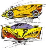 Το αρχικό σχέδιο σπορ αυτοκίνητο μου Στοκ εικόνα με δικαίωμα ελεύθερης χρήσης