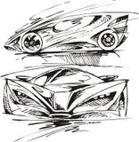 Το αρχικό σχέδιο σπορ αυτοκίνητο μου Στοκ φωτογραφίες με δικαίωμα ελεύθερης χρήσης