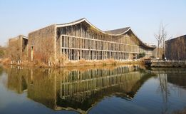 Το αρχιτεκτονικό περίπτερο της ακαδημίας της Κίνας των Καλών Τεχνών στοκ εικόνα