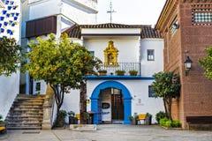 Το αρχιτεκτονικό σύνθετο Poble Espanyol της παραδοσιακής αρχιτεκτονικής της χώρας Δημιουργημένος το 1929 για ένα διεθνές exhi Στοκ Εικόνες