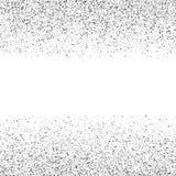 Το ασήμι ακτινοβολεί κομφετί σε ένα άσπρο υπόβαθρο ελεύθερη απεικόνιση δικαιώματος