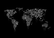 Το ασήμι λαμπιρίζει παγκόσμιος χάρτης διανυσματική απεικόνιση