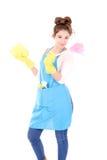 το ασιατικό ανασκόπησης όμορφο χαριτωμένο αστείο κορίτσι υφασμάτων μπουκαλιών καυκάσιο καθαρίζοντας απομόνωσε μικτή την κυρία γυα Στοκ φωτογραφίες με δικαίωμα ελεύθερης χρήσης