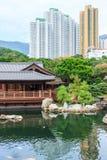 Το ασιατικό περίπτερο στον κήπο της Lian γιαγιάδων Στοκ Εικόνες