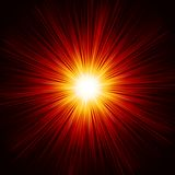 Το αστέρι εξερράγη την κόκκινη και κίτρινη πυρκαγιά. EPS 10 Στοκ φωτογραφίες με δικαίωμα ελεύθερης χρήσης