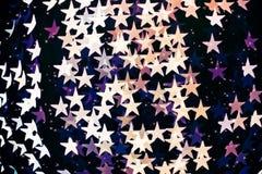 Το αστέρι διαμόρφωσε το θολωμένο bokeh υπόβαθρο με τα σπινθηρίσματα Στοκ φωτογραφίες με δικαίωμα ελεύθερης χρήσης