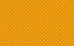 Το αστέρι και το διαγώνιο κεραμίδι-όπως σχέδιο με τις κόκκινες εμφάσεις στο κίτρινο υπόβαθρο που εμπνέεται από το μαροκινό κεραμί απεικόνιση αποθεμάτων