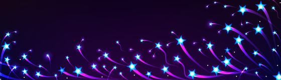 Το αστέρι κολυμπά το έμβλημα φωτεινό διανυσματική απεικόνιση