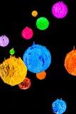 Το αστέρι στον κόσμο βαθύ διάστημα plastisol του μελανιού Στοκ εικόνα με δικαίωμα ελεύθερης χρήσης