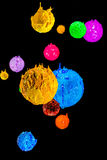 Το αστέρι στον κόσμο βαθύ διάστημα plastisol του μελανιού Στοκ εικόνες με δικαίωμα ελεύθερης χρήσης