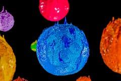 Το αστέρι στον κόσμο βαθύ διάστημα plastisol του μελανιού Στοκ Εικόνες