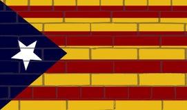 Το αστέρι στον τοίχο των τούβλων είναι μια σημαία που χρησιμοποιείται γενικά από τους πολίτες της ιδεολογίας ανεξαρτησίας ελεύθερη απεικόνιση δικαιώματος