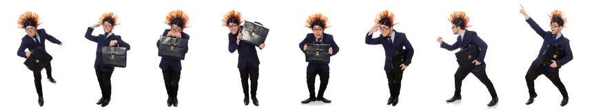 Το αστείο άτομο με το mohawk hairstyle Στοκ εικόνα με δικαίωμα ελεύθερης χρήσης