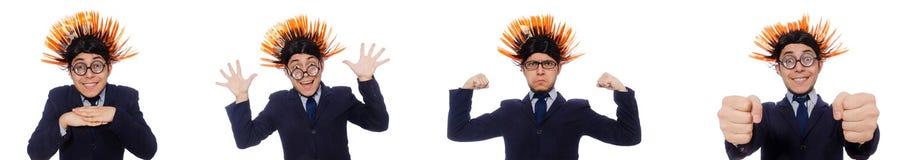 Το αστείο άτομο με το mohawk hairstyle Στοκ Εικόνα