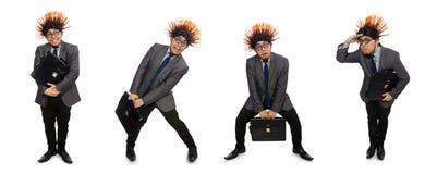 Το αστείο άτομο με το mohawk hairstyle στοκ εικόνες με δικαίωμα ελεύθερης χρήσης