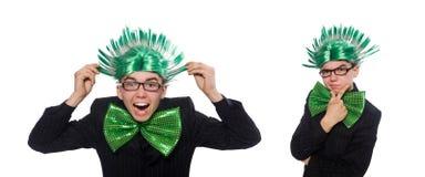 Το αστείο άτομο με το mohawk hairstyle στοκ φωτογραφία