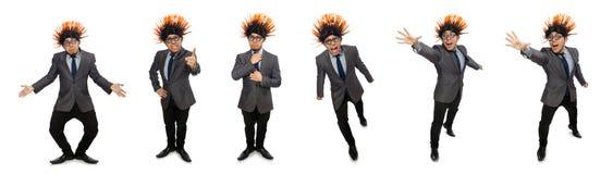 Το αστείο άτομο με το mohawk hairstyle στοκ φωτογραφίες με δικαίωμα ελεύθερης χρήσης