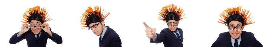 Το αστείο άτομο με το mohawk hairstyle Στοκ Φωτογραφίες