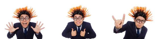 Το αστείο άτομο με το mohawk hairstyle Στοκ Εικόνες