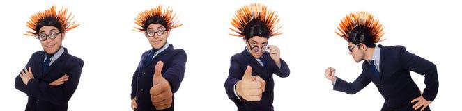 Το αστείο άτομο με το mohawk hairstyle Στοκ φωτογραφία με δικαίωμα ελεύθερης χρήσης
