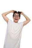 Το αστείο άτομο που πάσχει από τη διανοητηκή διαταραχή Στοκ Εικόνες
