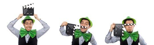Το αστείο άτομο στην έννοια διακοπών Αγίου Πάτρικ στοκ φωτογραφία με δικαίωμα ελεύθερης χρήσης