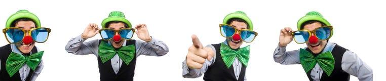 Το αστείο άτομο στην έννοια διακοπών Αγίου Πάτρικ στοκ φωτογραφίες με δικαίωμα ελεύθερης χρήσης
