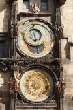 Το αστρονομικό ρολόι Πράγα Orloj, η πρωτεύουσα της Πράγας Στοκ Εικόνες