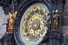 Το αστρονομικό ρολόι της Πράγας, ή Πράγα orloj Στοκ φωτογραφία με δικαίωμα ελεύθερης χρήσης