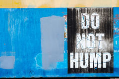 Το ασφαλές φύλο όχι σημάδι εξογκωμάτων Στοκ Εικόνες