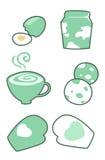 το αυγό καφέ φορά γάντια στο γάλα Στοκ Εικόνες