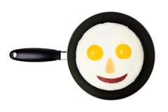 το αυγό τηγάνισε ευτυχή Στοκ Εικόνες