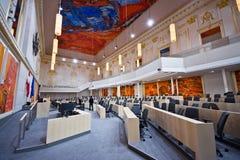 Το αυστριακό Κοινοβούλιο στο παλάτι Hofburg Στοκ εικόνα με δικαίωμα ελεύθερης χρήσης